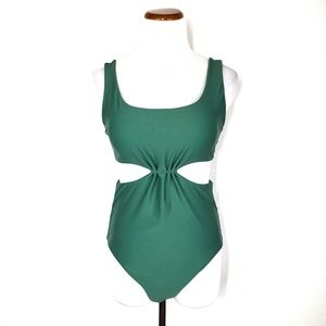 Cupshe Green High Waisted Bathing Suit Medium
